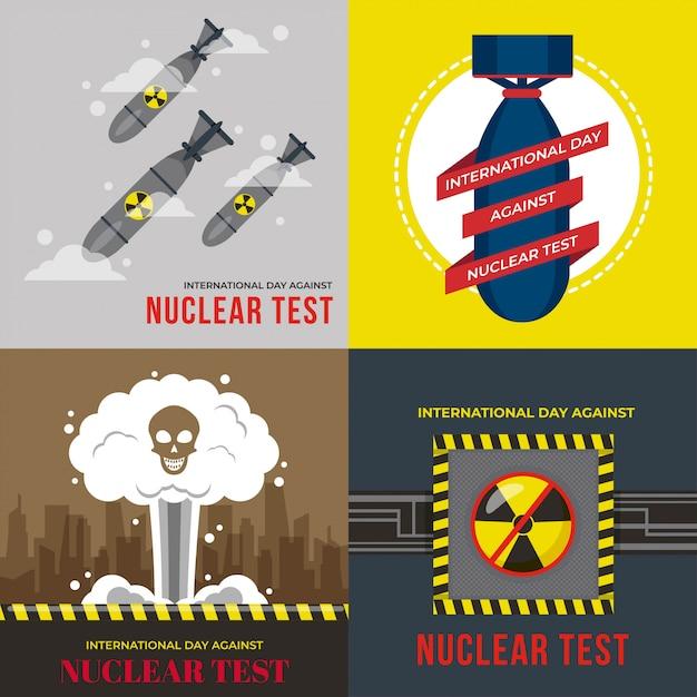 Internationale dag tegen nucleaire tests illustratie Premium Vector