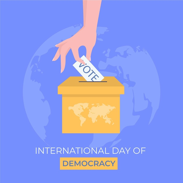 Internationale dag van de democratie concept Premium Vector