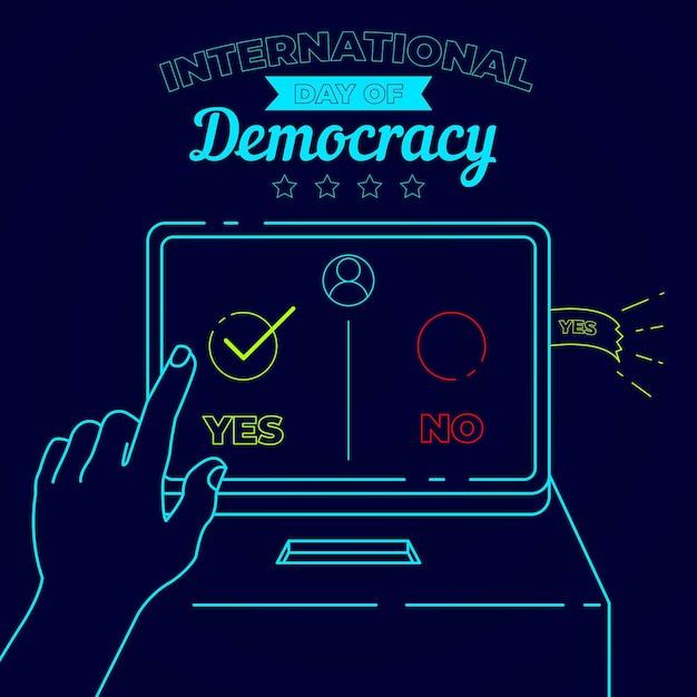 Internationale dag van de democratie concept Gratis Vector