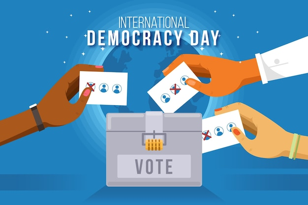 Internationale dag van de democratie illustratie Gratis Vector