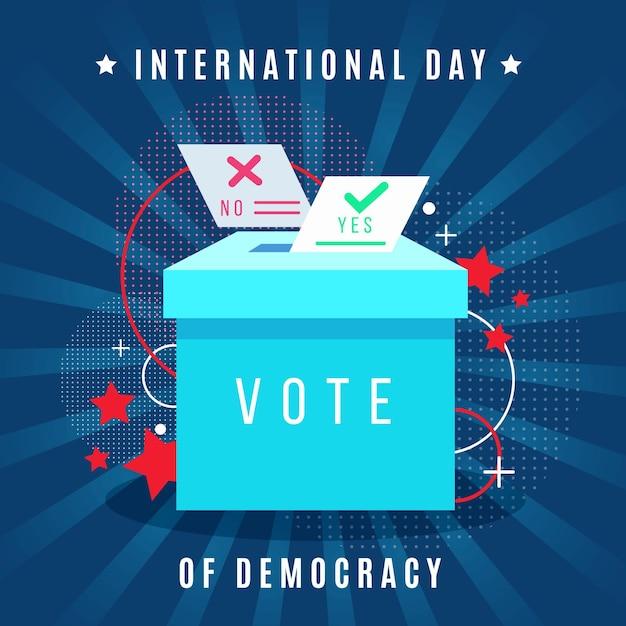 Internationale dag van de democratie Gratis Vector
