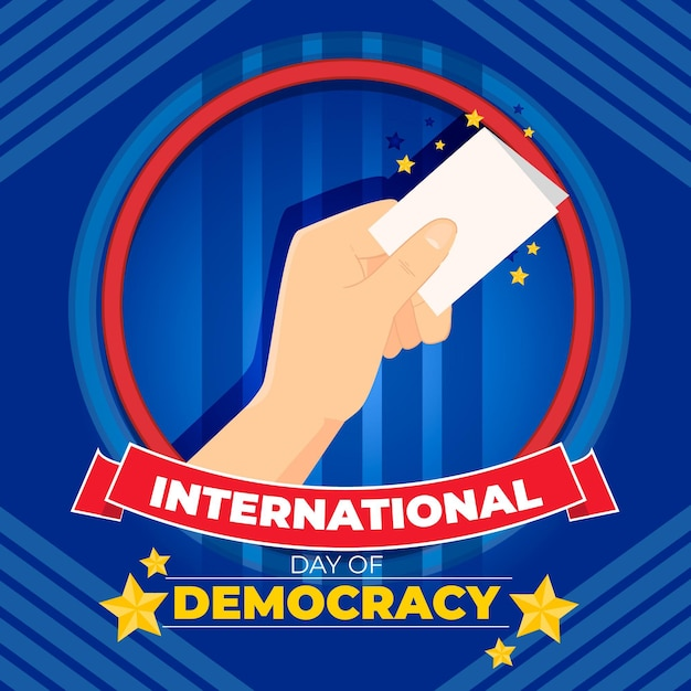 Internationale dag van de democratie Gratis Vector