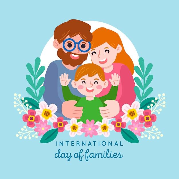 Internationale dag van de familie illustratie Gratis Vector
