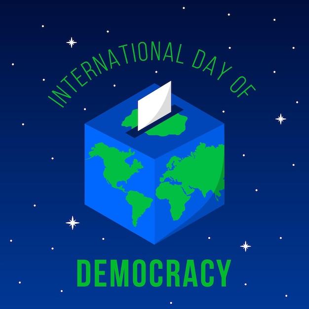Internationale dag van de stemming over democratie en aarde Gratis Vector