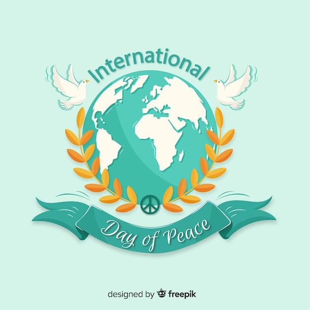 Internationale dag van de vredesdag Gratis Vector