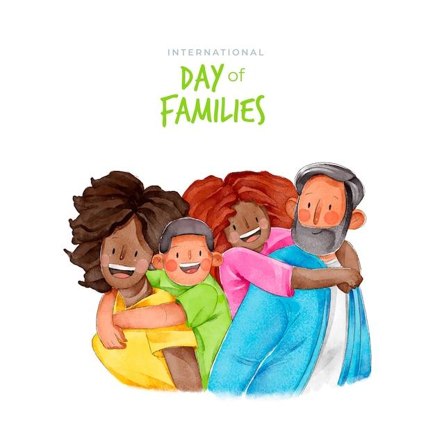 Internationale dag van families concept Gratis Vector