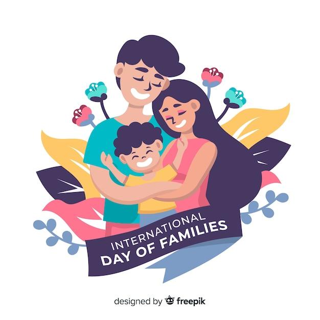 Internationale dag van familiesachtergrond Gratis Vector