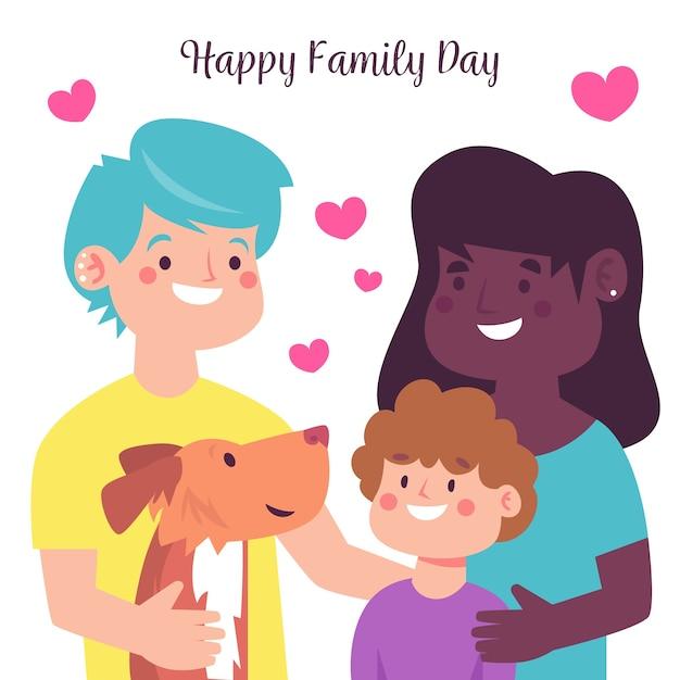 Internationale dag van gezinnen vlakke stijl Gratis Vector