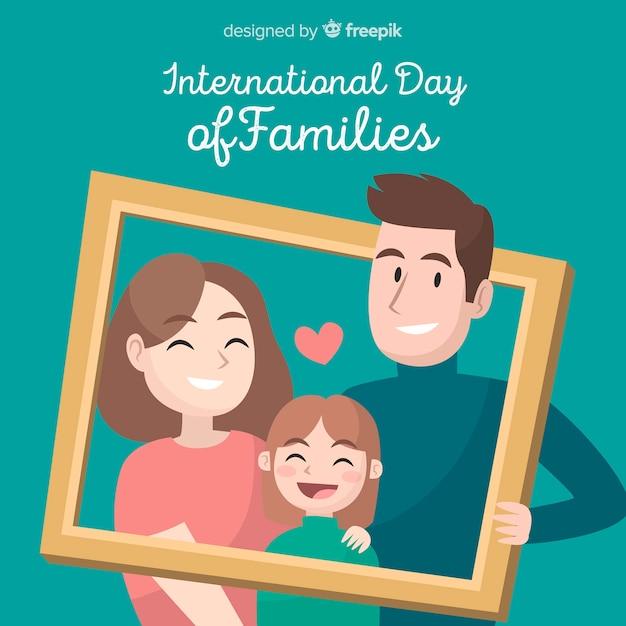 Internationale dag van gezinnen Gratis Vector