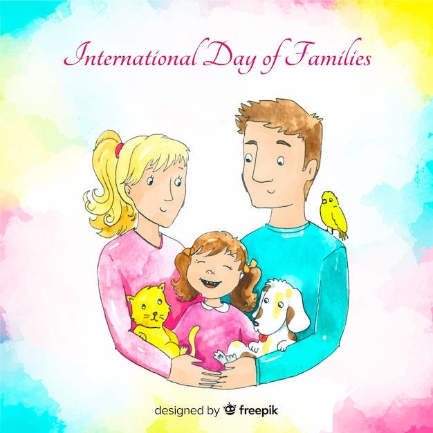 Internationale dag van gezinnen Gratis Vector