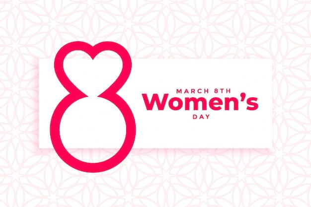 Internationale de banner van de de daggebeurtenis van vrouwen Gratis Vector