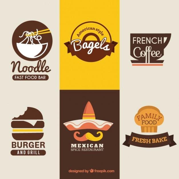 Internationale gerechten badges Gratis Vector