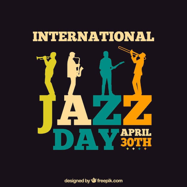 Internationale jazz-dagsjabloon Gratis Vector