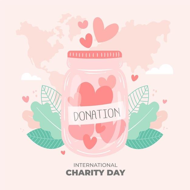 Internationale liefdadigheidsdag Gratis Vector