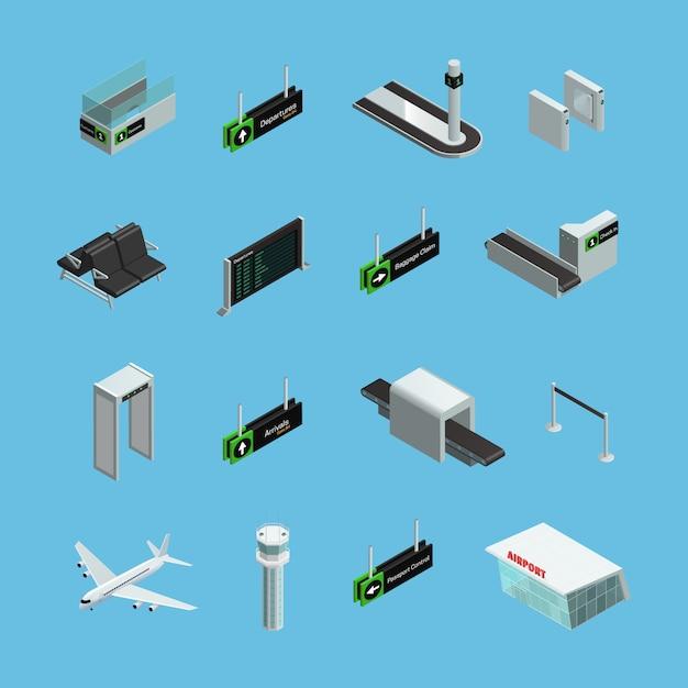 Internationale luchthaventerminals Gratis Vector
