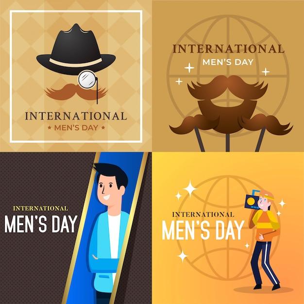 Internationale men's day vectorillustratie Premium Vector