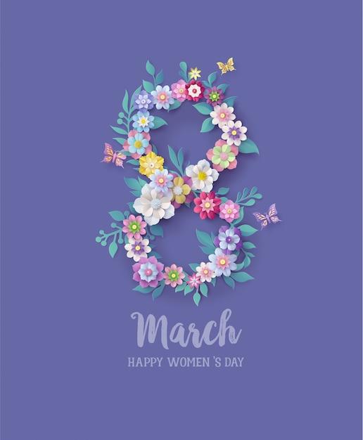 Internationale vrouwendag 8 maart Premium Vector