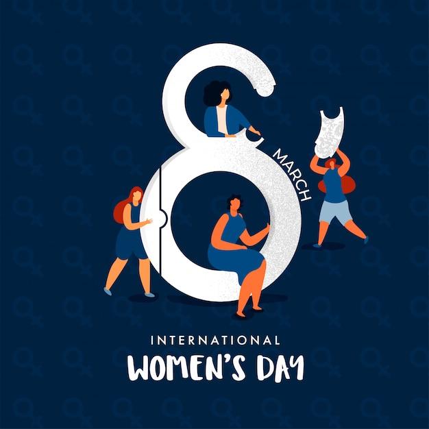 Internationale vrouwendag concept. Premium Vector