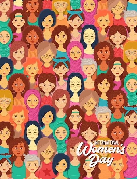 Internationale vrouwendag illustratie Premium Vector