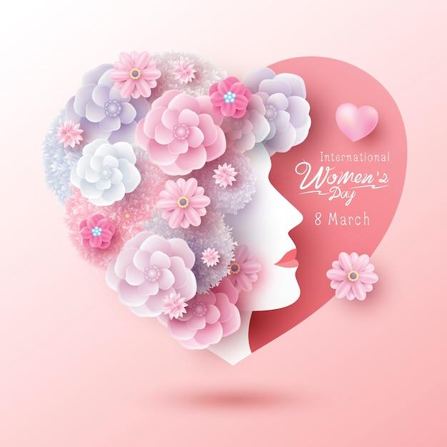 Internationale vrouwendag Premium Vector