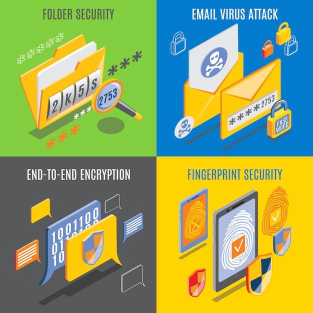 Internet bedreigingen ontwerpconcept Gratis Vector