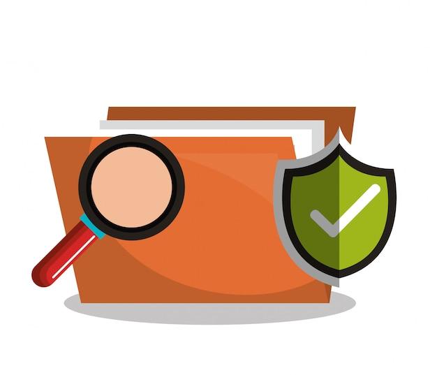 Internet beveiligingsinformatie pictogram Premium Vector