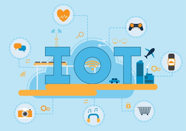 Internet of things-concept Premium Vector