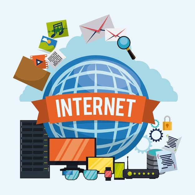 Internet ontwerp. Premium Vector