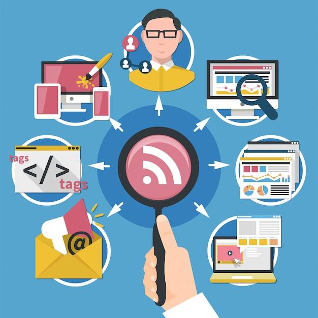 Internetmarketingconcept Gratis Vector
