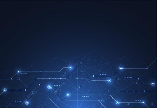 Internetverbinding, abstract gevoel voor wetenschap Premium Vector