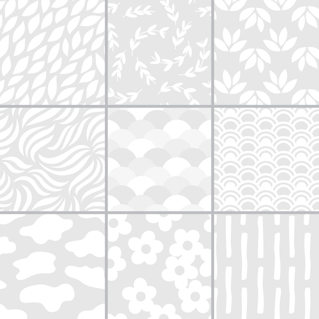 Inzameling van de eenvoudige illustratie van patroonvectoren Gratis Vector