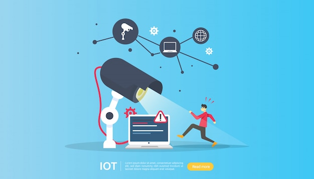 Iot internet of things Premium Vector