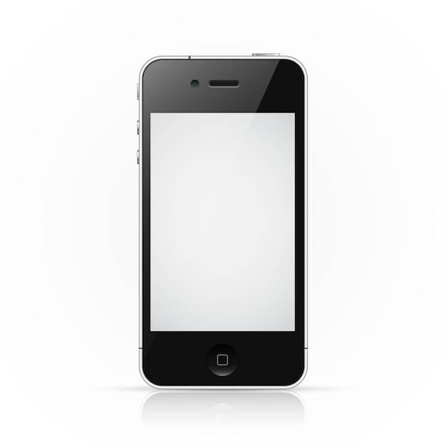 Iphone-smartphone met leeg scherm Premium Vector