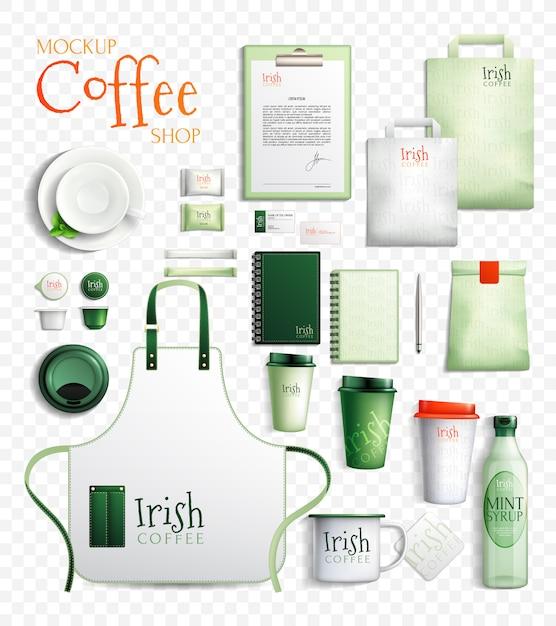 Irish coffee transparante collectie Gratis Vector