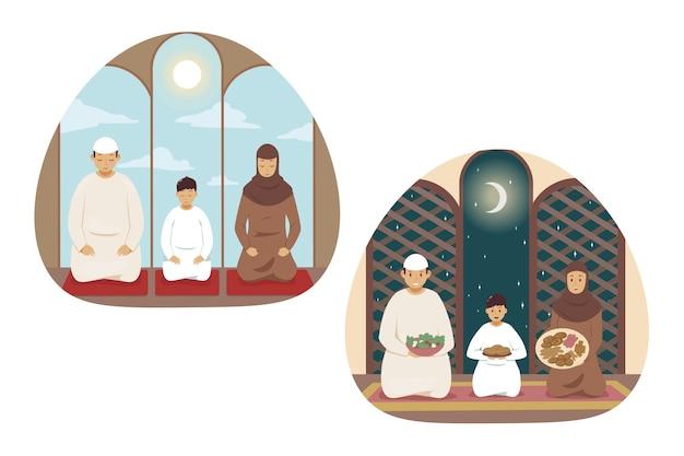 Islam illustratie Premium Vector