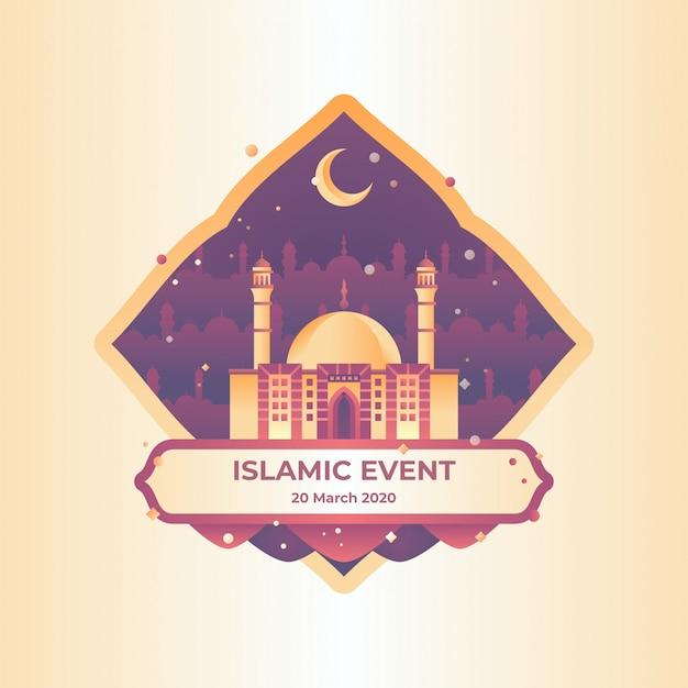 Islamitische evenement illustratie Premium Vector