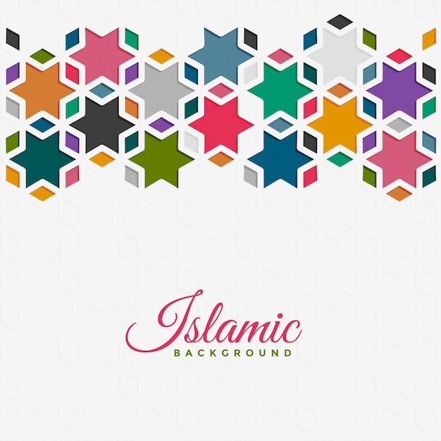 Islamitische patroonachtergrond in kleurrijke stijl Gratis Vector