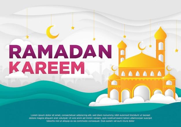 Islamitische ramadan kareem achtergrond Premium Vector
