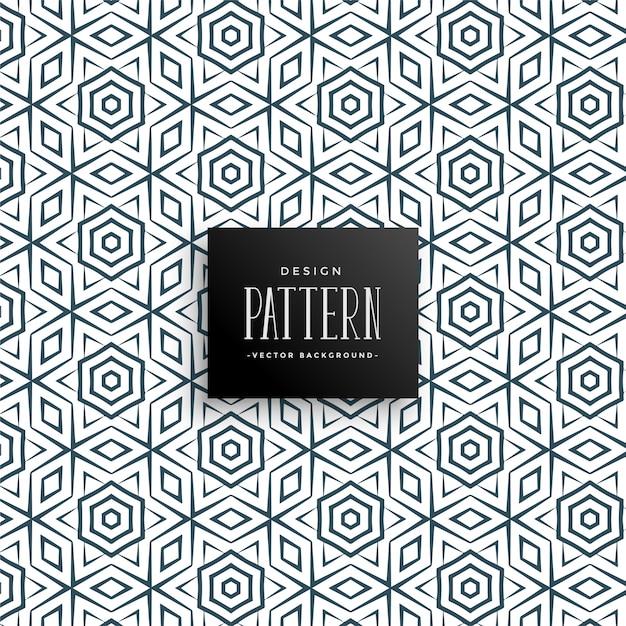 Islamitische stijl lijn patroon achtergrond Gratis Vector