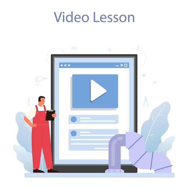 Isolatie online service of platform Premium Vector