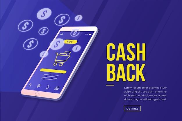 Isometrisch cashback concept Gratis Vector