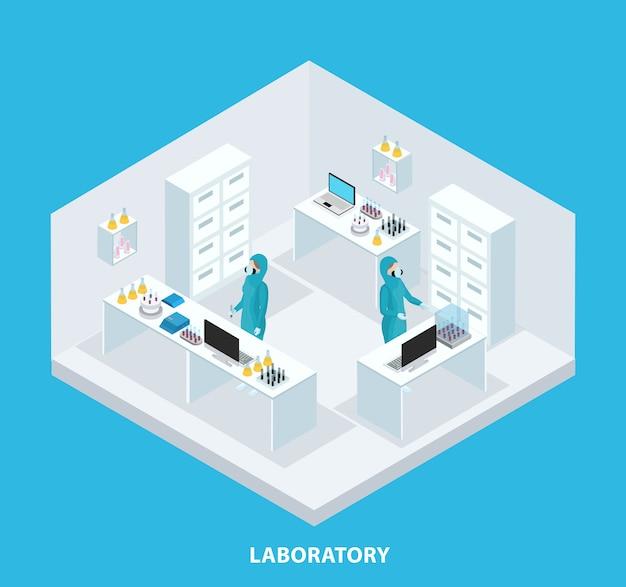 Isometrisch medisch onderzoek concept Gratis Vector