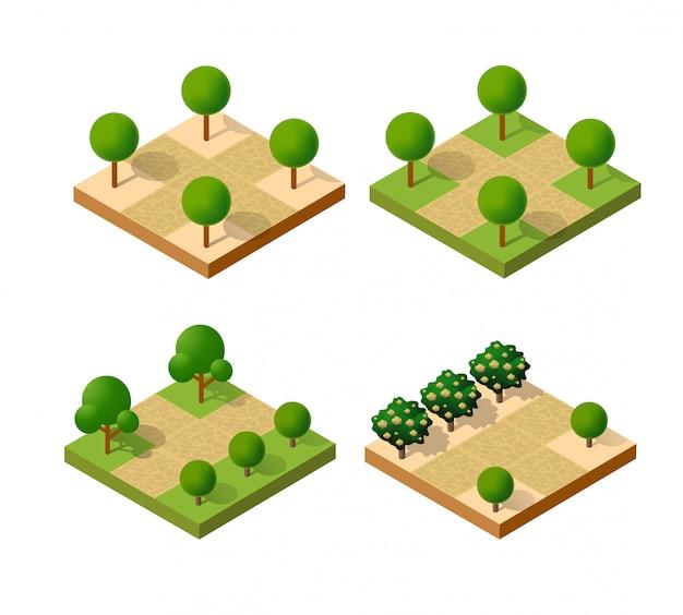 Isometrisch park stedelijk Premium Vector