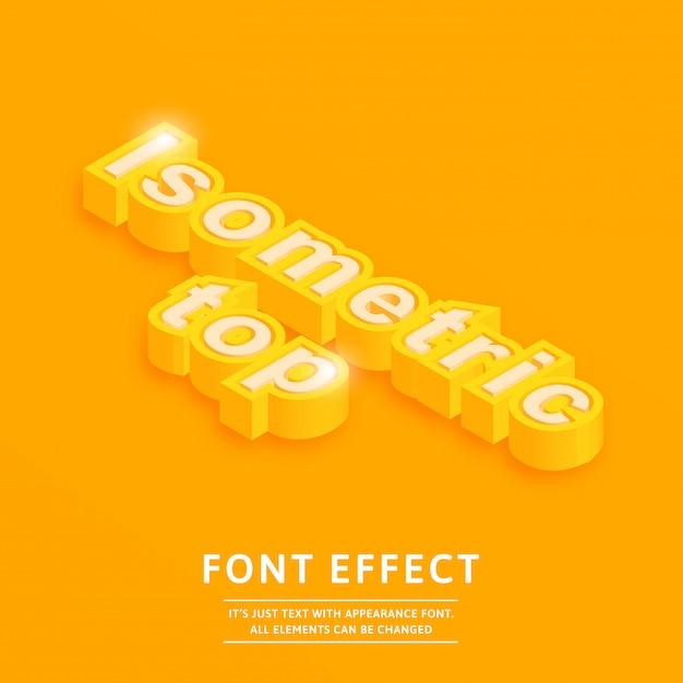 Isometrisch top 3d lettertype-effect Premium Vector