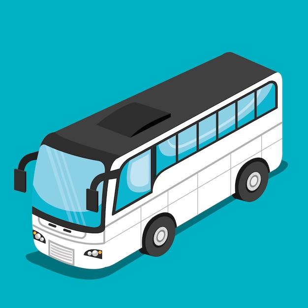 Isometrisch voertuig Gratis Vector