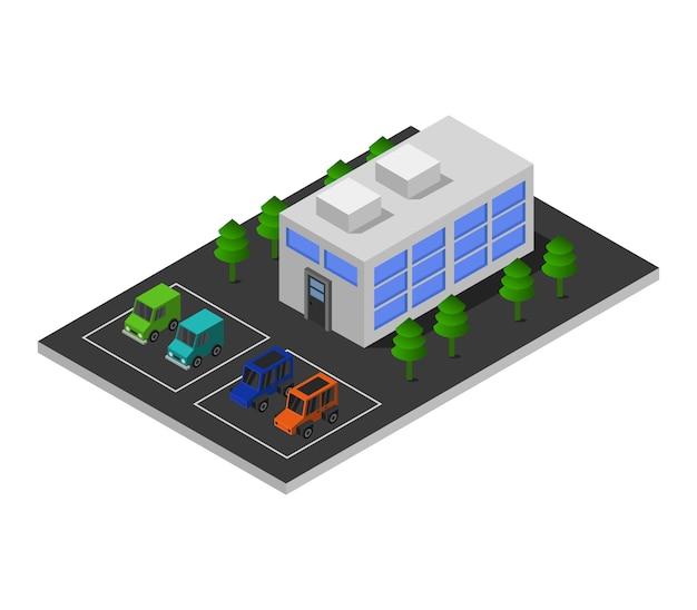 Isometrisch winkelcentrum Premium Vector