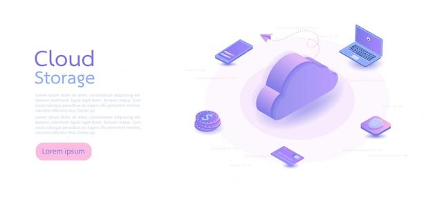 Isometrische creditcard. isometrische vectorillustratie. Premium Vector