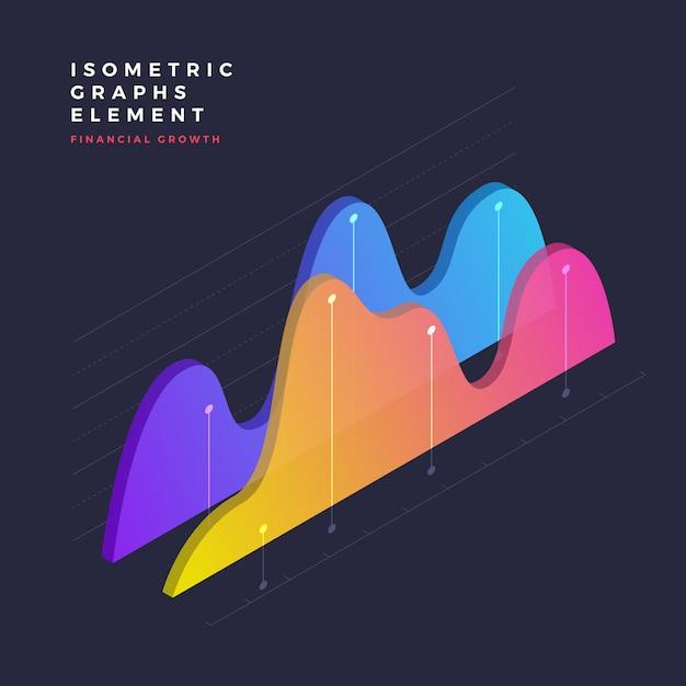 Isometrische grafisch element Premium Vector