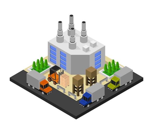Isometrische industrie Gratis Vector