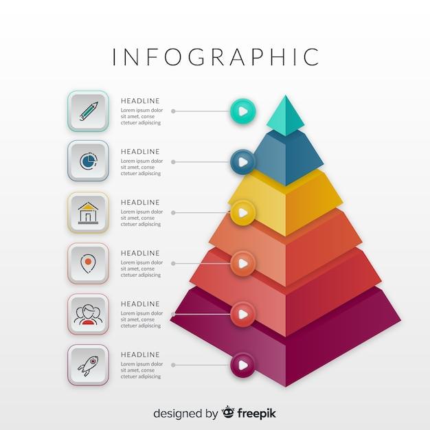Isometrische infographic Gratis Vector